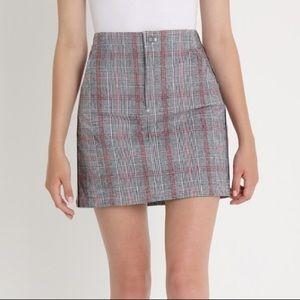 Hollister plaid mini skirt